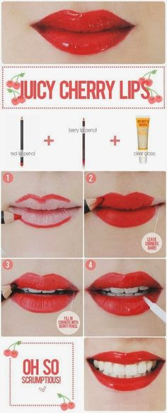 Cherry Lip Makeup Tutorial
