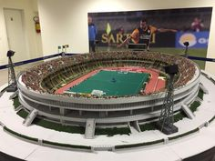 via Peter Schaad Lego Soccer, Stadium Architecture, Table Football, Sport Craft, Retro Football, Fantasy House, Corinthian, Sports Games, Model Trains