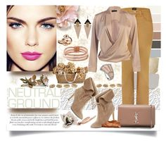 """""""Neutrals"""" by jeneric2015 ❤ liked on Polyvore featuring Armani Jeans, 424 Fifth, Yves Saint Laurent, Toolally, Betsey Johnson, LE VIAN, Annoushka, IaM by Ileana Makri and neutrals"""
