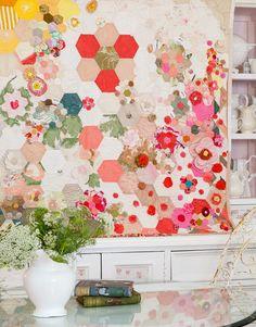 An Ornamental Garden quilt, Homespun Magazine, April 2015. Large and small…