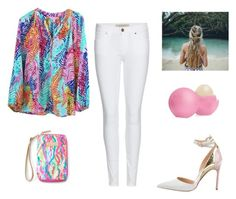 """""""Untitled #34"""" by alisa105 on Polyvore featuring Lilly Pulitzer, Burberry, Eos and Manolo Blahnik"""