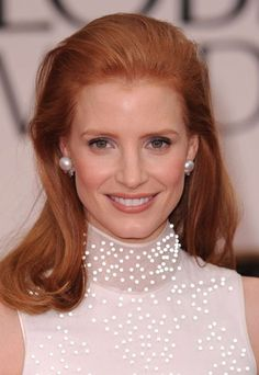 Celebrity red hair: Jessica Chastain with red hair - Auburn Hair