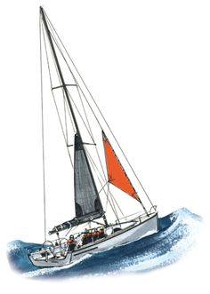 Many sailors rely on a combination of storm jib and a mainsail with three or four reefs in lieu of a trysail