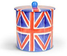 Union Jack biscuit barrel