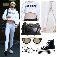 Miley Cyrus leaving a recording studio in LA - photo: mileynation.net