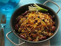 Turmeric and Saffron: Reshteh Polow - Rice and Noodles: For Nowruz (Persian New Year)