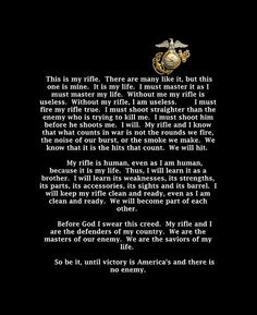 Rifleman's Creed!