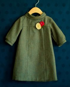 Oliver + S Wool Herringbone School Photo Dress - A Stitch a Day, This is such a cute dress!