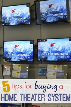 Choosing the Best Electronics: 5 Tips for Buying a Home Theater System #OneBuyForAll #shop