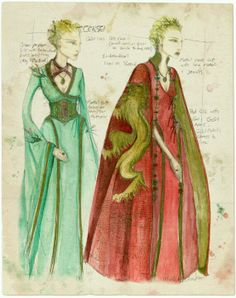 Game of Thrones costume sketches by Michele Clapton.