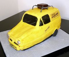 It's that 3 wheeler thing as a cake from only fools & horses. only fools and horses 3 wheel cake