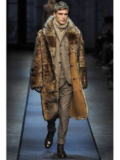 CANALI - REVERSIBLE SHEARLING FUR COAT - LUISAVIAROMA - LUXURY SHOPPING WORLDWIDE SHIPPING - FLORENCE