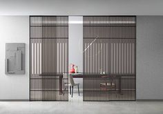 Koan, system of sliding panels design by Kokai Studio for Lualdi Sliding Door Design, Sliding Door Systems, Sliding Panels, Sliding Doors, Barn Doors, Italian Doors, Internal Doors, Design Furniture, Innovation Design