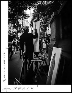 Coordinates of an artist capturing his vision     #ChryslerBuilding #BryantPark #NYC  #Art #Photography #Travel
