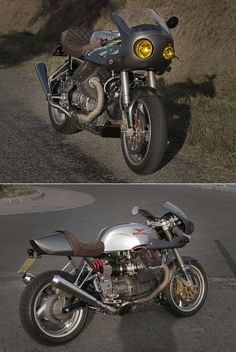 """MOTO GUZZI C.R. Moto Guzzi Café Racer made from a Y2K V10 Centauro. Here in """"MK1"""" version, meaning modifications and improvements to come."""