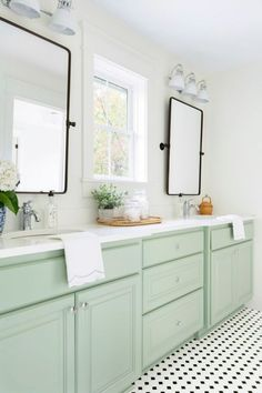 Jack and Jill Bathroom Inspiration for the Flip House - Beneath My Heart Zen Bathroom, White Bathroom, Bathroom Storage, Bathroom Vanities, Bathroom Green, Bathroom Small, Bathroom Cabinets, Bathroom Renovation Cost, Jack And Jill Bathroom