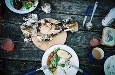 perfect outdoor dinner scene