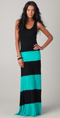 Black tank and long maxi skirt