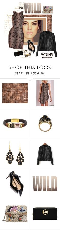 """""""Yoins....new 81."""" by carola-corana ❤ liked on Polyvore featuring Orientalist Home, Gucci, MICHAEL Michael Kors, yoins and yoinscollection"""