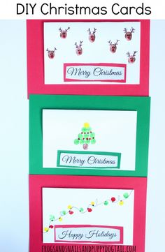 DIY Christmas Cards. Craft idea for kids. #‎InkjetGlitter‬ ‪#‎ad‬