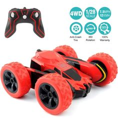 RC Cars Stunt Car Toy, Amicool Remote Control Car Double Sided Rotating Vehicles 360 Flips, Kids Toy Cars for Boys & Girls Birthday