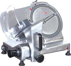 Aufschnittmaschine, MW-220 massives Metallgehäuse, leistungsstarker Motor, beweglicher Restehalter, inkl. Schleifgerät, professionelles Messer DM 22 cm, Schnittstärke: 0,2 - 15 mm Anschlussw.: 230 V / 120 W Abm.: 38,5 x 43,5 x 32,5 cm (BxTxH) Dm, Espresso Machine, Motor, Coffee Maker, Kitchen Appliances, Cold Cuts, Knives, Hang In There, Metal