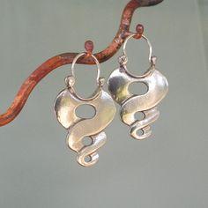 Pendientes de plata esterlina Twist aro estilo por BobsWhiskers