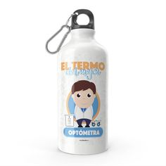 Termo - El termo del mejor optómetra, encuentra este producto en nuestra tienda online y personalízalo con un nombre. Water Bottle, Drinks, Carton Box, Store, Crates, Drinking, Beverages, Water Bottles, Drink