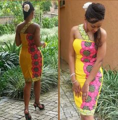 African prints and dresses and....