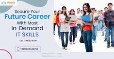 Are you looking to advance your career by acquiring new IT skills? Enroll in our most in-demand IT courses now and get up to a 20% discount. Limited time offer – Hurry up! #Career #ITCourses #ITSkills #ITTraining #ITTrainingInstitute #KarmickInstitute Seo Digital Marketing, Start Now, Future Career, Career Opportunities, Get Up, Get Started, Opportunity, Web Design, Train