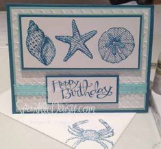 By the Seashore Birthday by marlayne - Cards and Paper Crafts at Splitcoaststampers