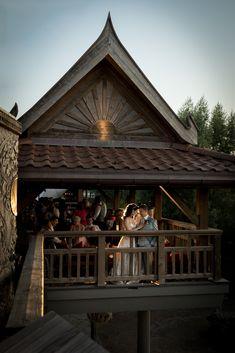 Himmapan Lodge Restaurant Restaurant, Cabin, House Styles, Home Decor, Desk Arrangements, Cabins, Restaurants, Cottage, Interior Design