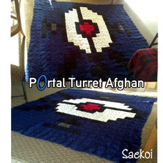 8-bit Portal Turret Afghan Blanket by Saekoi on deviantART