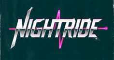"Overglow - ""Nightride"" logo, heavily inspired by #80s design"