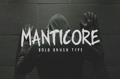 Check out Manticore - Brush Font by Tugcu Design Co. on Creative Market