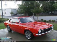 1972 Ford Maverick Grabber in Red Photo No. Ford Motor Company, Mustang Cars, Ford Mustang, Ford Maverick, Ford Lincoln Mercury, American Motors, Car Ford, Vintage Trucks, Ford Focus