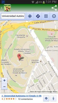 Mapa de localización con indicaciones de arribo a la sucursal elegida