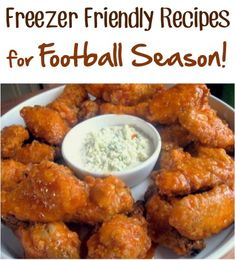 Freezer Friendly Recipes for Football Season - Appetizers, Snacks, and more