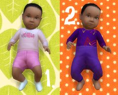 It's all about clutter, Baby Overrides: Set 14 - Medium Skin/Girl + Black...