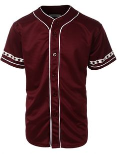 Mens Varsity Short Sleeve Button Down Baseball Jersey with Design Print is part of Baseball jerseys mens button down jersey, mens sports jerseys, mens active shirts, sports shirts, baseball jersey - Urban Outfits, Cool Outfits, Casual Outfits, Underground Clothing, Look Star, Divas, Future Clothes, Anorak Jacket, Baseball Jerseys