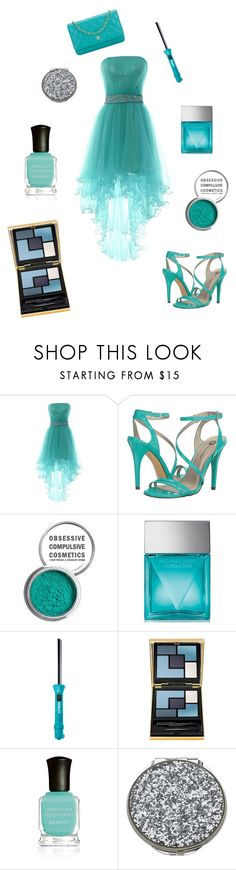 """""""Dressy Turquoise"""" by yourboiskye on Polyvore featuring Michael Antonio, Obsessive Compulsive Cosmetics, Michael Kors, Lorion, Yves Saint Laurent, Deborah Lippmann, Kate Spade and Chanel"""
