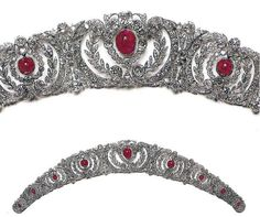 Antique Tiara (made by Chaumet; rubies, diamonds). Once owned by the princely Yusupov Family. www.royal-magazin.de
