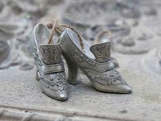 Chic-Antique-vintage-zapato-remolque-decoracion-colgador-Antik-plata