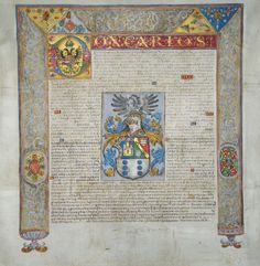 Grant of arms to Gregorio de Castro | SHS