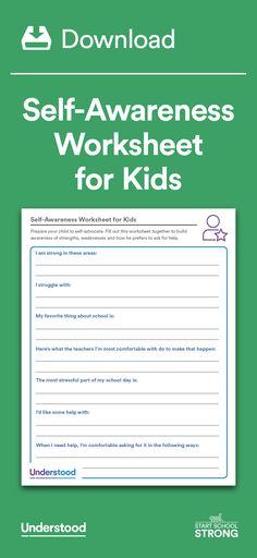 Worksheet Self Advocacy Worksheets amazing websites strength and self employment on pinterest download awareness worksheet for kids