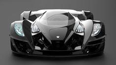 Gray Design's Zeus Twelve designs Sigma, futuristic vehicle, supercar, black car, concept car, automobile, futuristic car, luxury car, carbon fiber, sportscar, future car