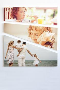 Stampa le tue foto in HD su trittico modello Stripe. High definition personalized printing on Stripe panels.