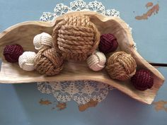 Decorative Rope Balls Nautical Rope Knot Set Of 6 Monkey Fist Rope Knots Rope  Beach