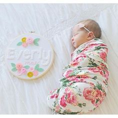 Absolutely beautiful floral swaddle blankets.