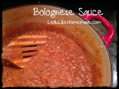 Sausage and Beef Bolognese Sauce Recipe - makes 12 cups for our family - divide in 3 freezer bags 4 c each Bolognese Pasta, Paleo Bacon, Italian Seasoning, Freezer Meals, Gravy, Italian Recipes, Sausage, Cups, Menu